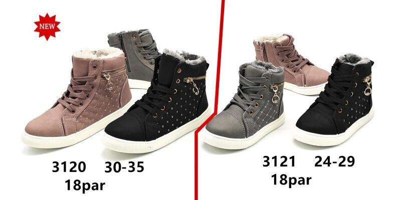 Dívčí zimní kotníčková obuv (24-29)