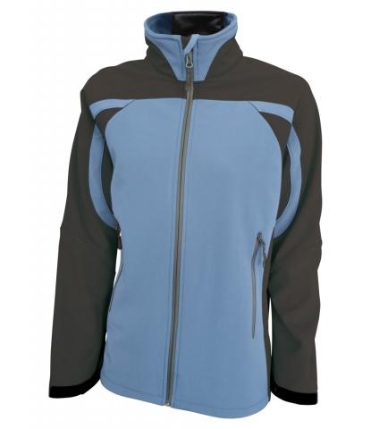 Dámská softshellová bunda (S-XL) modrá/šedá