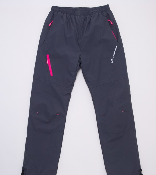 Dorostenecké  šusťákové kalhoty s fleecem WOLF (134-158)