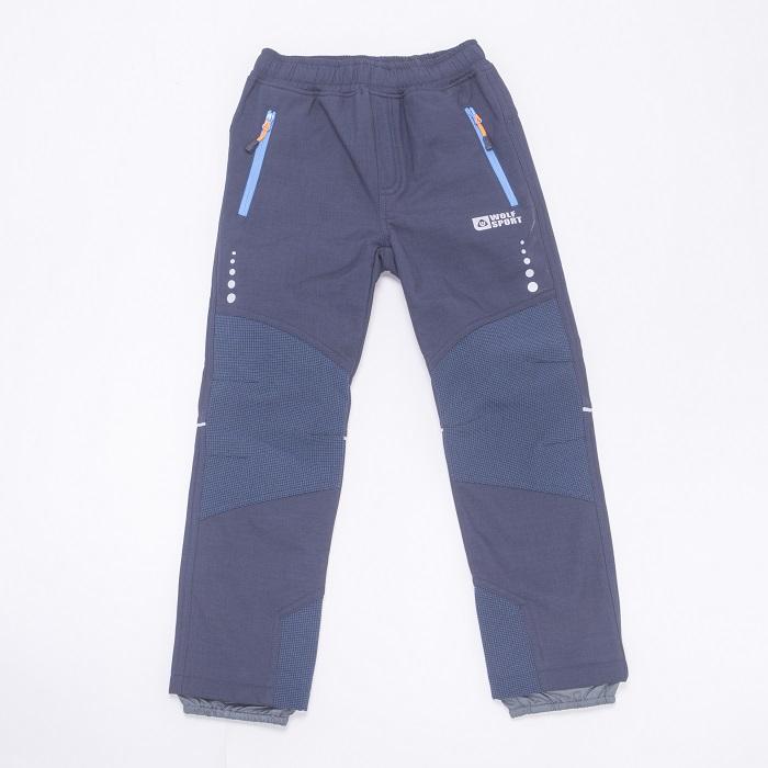 Dorostenecké softshellové kalhoty WOLF (116-146)