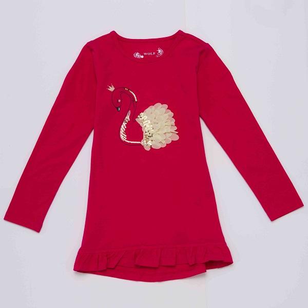Dívčí  triko s dlouhým rukávem WOLF (116-146)
