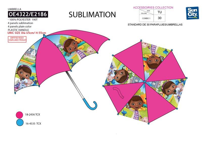 Dívčí deštník Dr. Plyšáková (55 cm)
