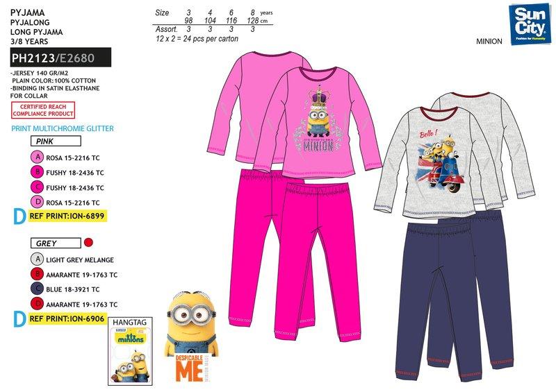 Dívčí pyžamo MINIONS (vel. 98-128)