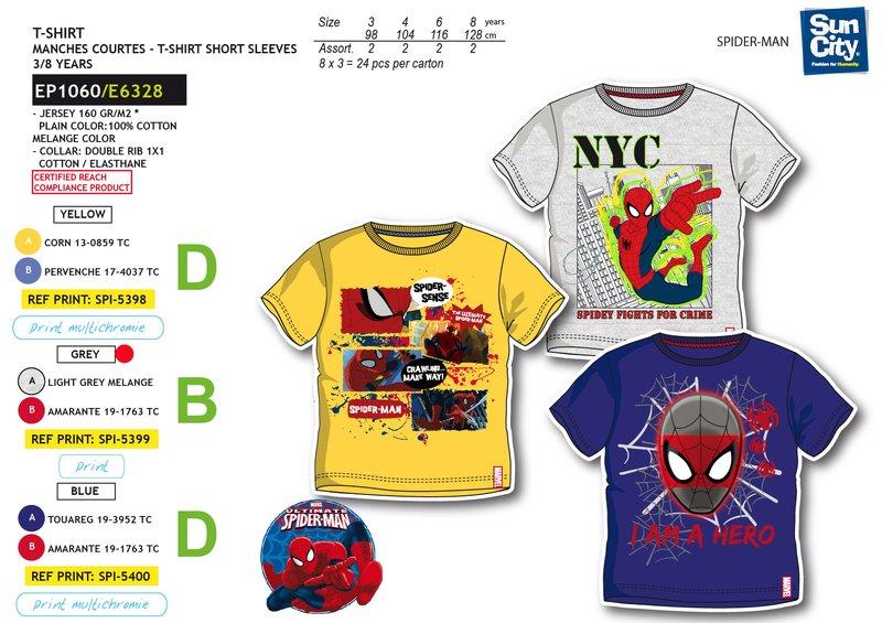 Chlapecké triko krátký  rukáv SPIDERMAN (98-128)