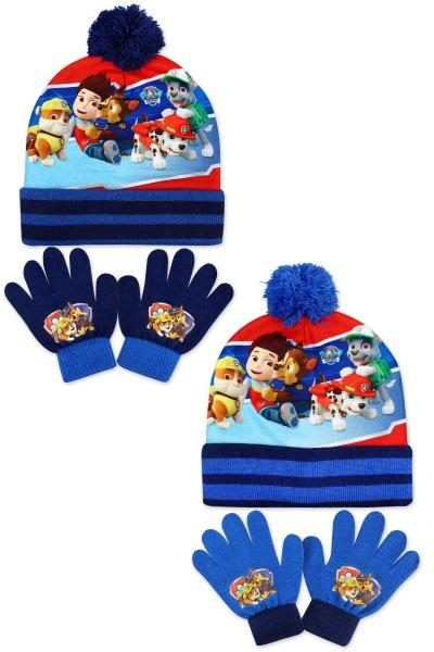 Chlapecká pletená souprava čepice a prstových rukavic PAW (velikost UNI)