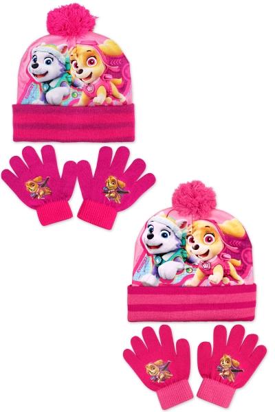 Dívčí set (čepice+rukavice) PAW GIRL