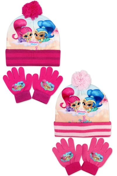 Dívčí pletená souprava čepice a prstových rukavic Shim (velikost UNI)
