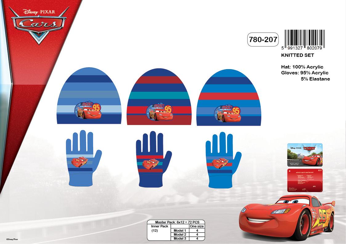 Chlapecký zimní set(čepice+rukavice) CARS