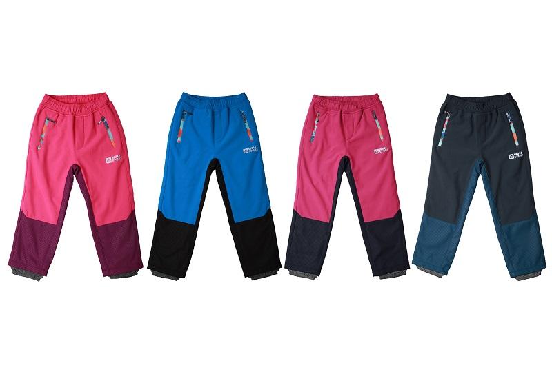 Dětské softshellové kalhoty WOLF (86-110)