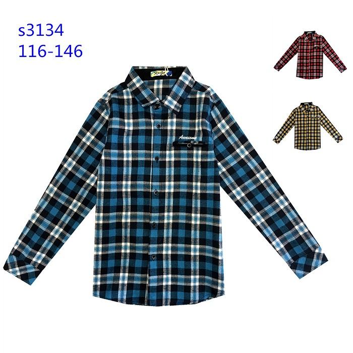 Chlapecká flanelová košile KUGO (116-146)