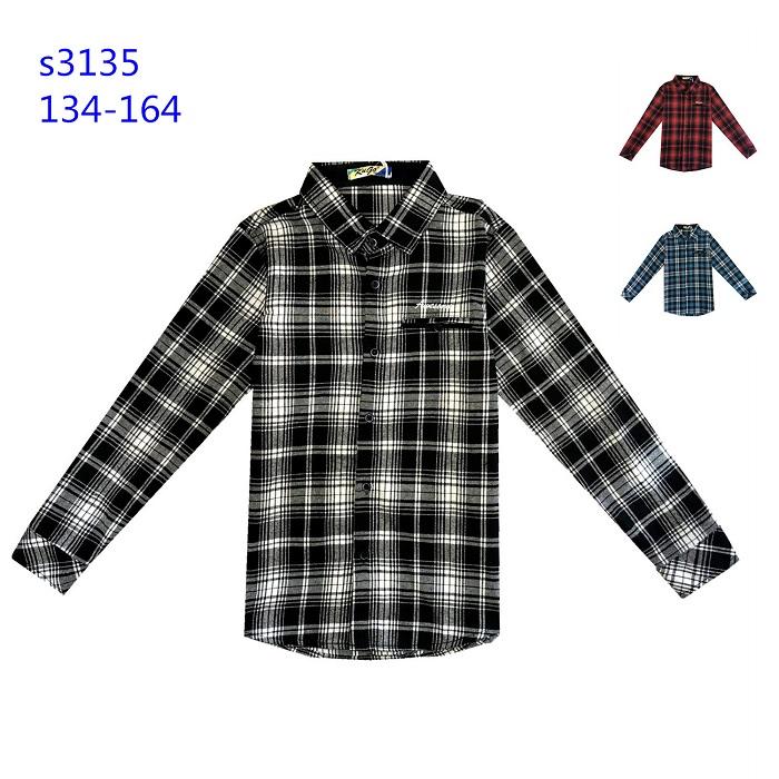 Chlapecká flanelová košile KUGO (134-164)
