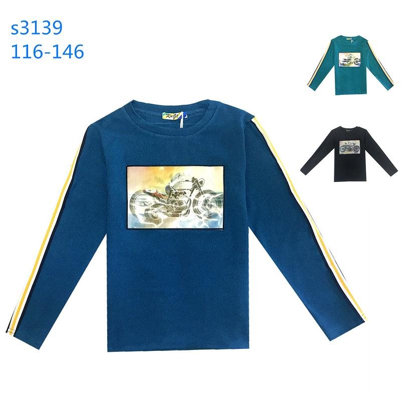 Chlapecký svetr dlouhým rukávem a 3D obrázkem KUGO (116-146)