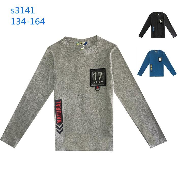 Chlapecký svetr dlouhým  rukávem  a 3D obrázkem KUGO (134-164)