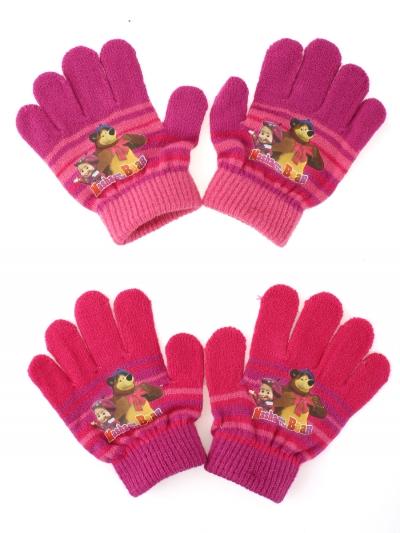 Dívčí prst.rukavice Máša a medvěd