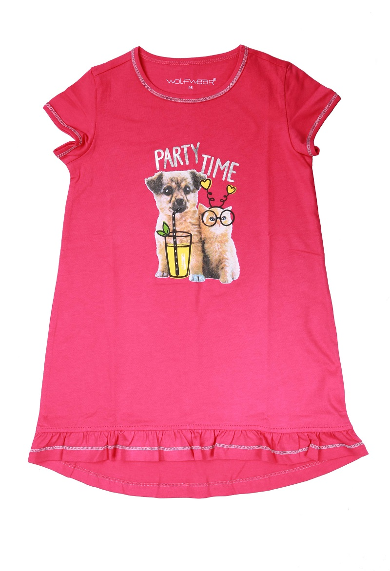 Dívčí noční košile WOLF (98-128)