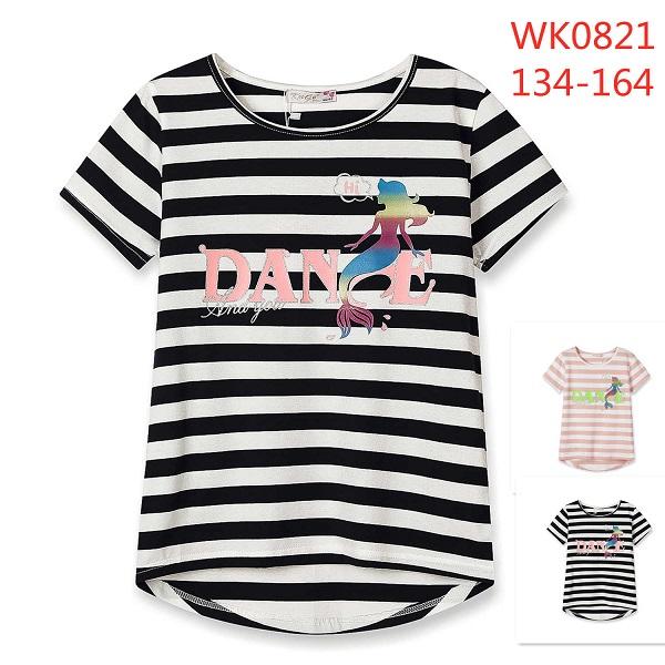 Dívčí triko s krátkým rukávem KUGO (134-164)