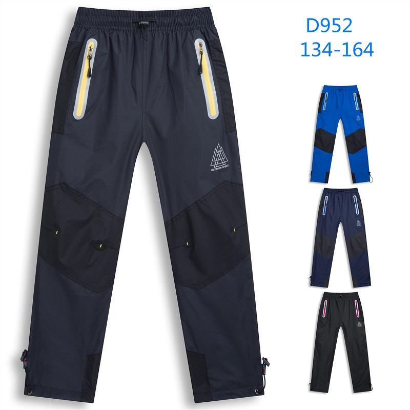 Dorostenecké zeteplené  šusťákové kalhoty KUGO (134-164)