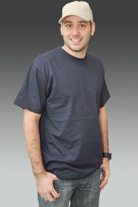 Pánské jednobarevné triko BLOSSOM (S-XXL)-šedá