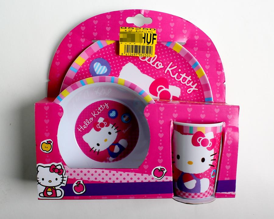 Dívčí set (talíře+hrneček) HELLO KITTY - SLEVA