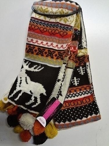 Zimní pletená šála SAM
