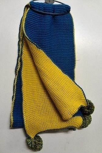 Zimní oboustranná pletená šála SAM