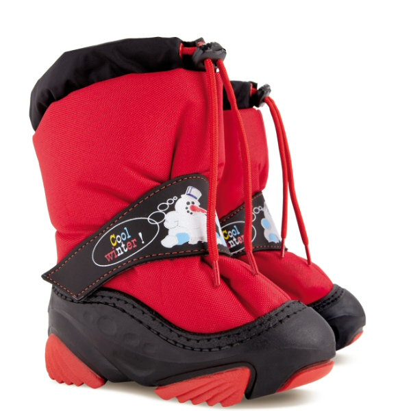 Dětské zimní sněhule DEMAR (20-29) červené