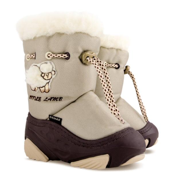 Dětské zimní sněhule DEMAR (20-29) krémové
