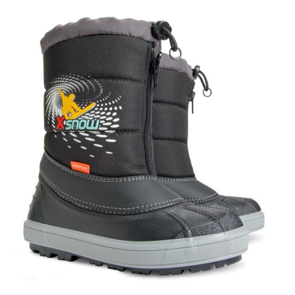 Dětské zimní sněhule DEMAR (24-35) černé