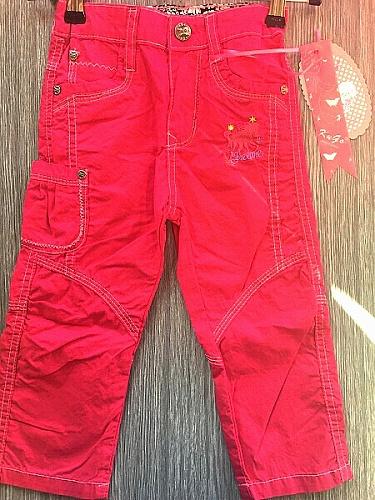 Dívčí plátěné kalhoty KUGO (86-110)  SLEVA