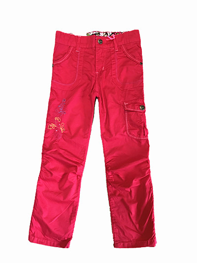 Dívčí plátěné kalhoty KUGO (98-128) SLEVA