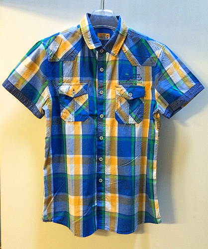 Pánská košile kr.ruk. BENHAO (M-XXXL)