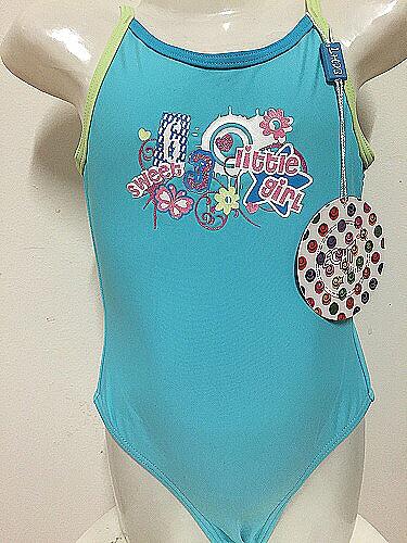 Dívčí jednodílné plavky ECHT (122-158) - modrá
