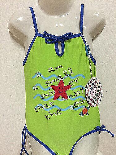 Dívčí jednodíl.plavky ECHT (4-10let) - zelená