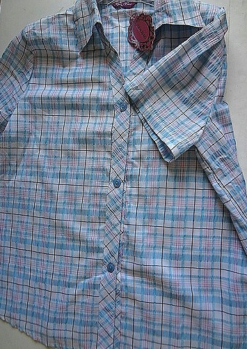 Dámská košile s kr.ruk.BENHAO (M-XXXL)