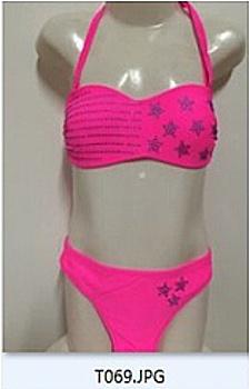 Dívčí dvoudíl.plavky SEFON (158-170) - růžová