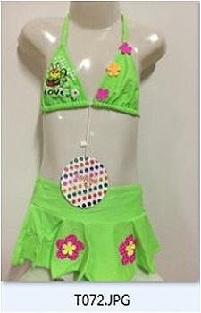 Dívčí dvoudíl.plavky SEFON (122-164) - zelená