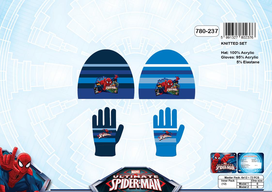 Chlapecký zimní set(čepice+rukavice) SPIDERMAN