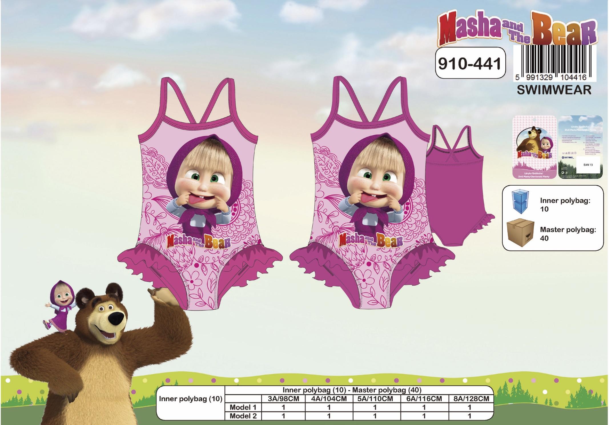 Dívčí plavky Máša a Medvěd (3-8let)