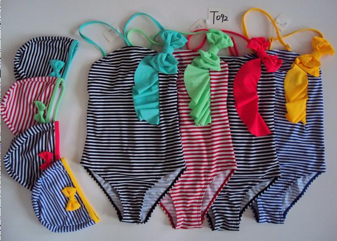 Dívčí plavky s čepicí SEFON (122-164)