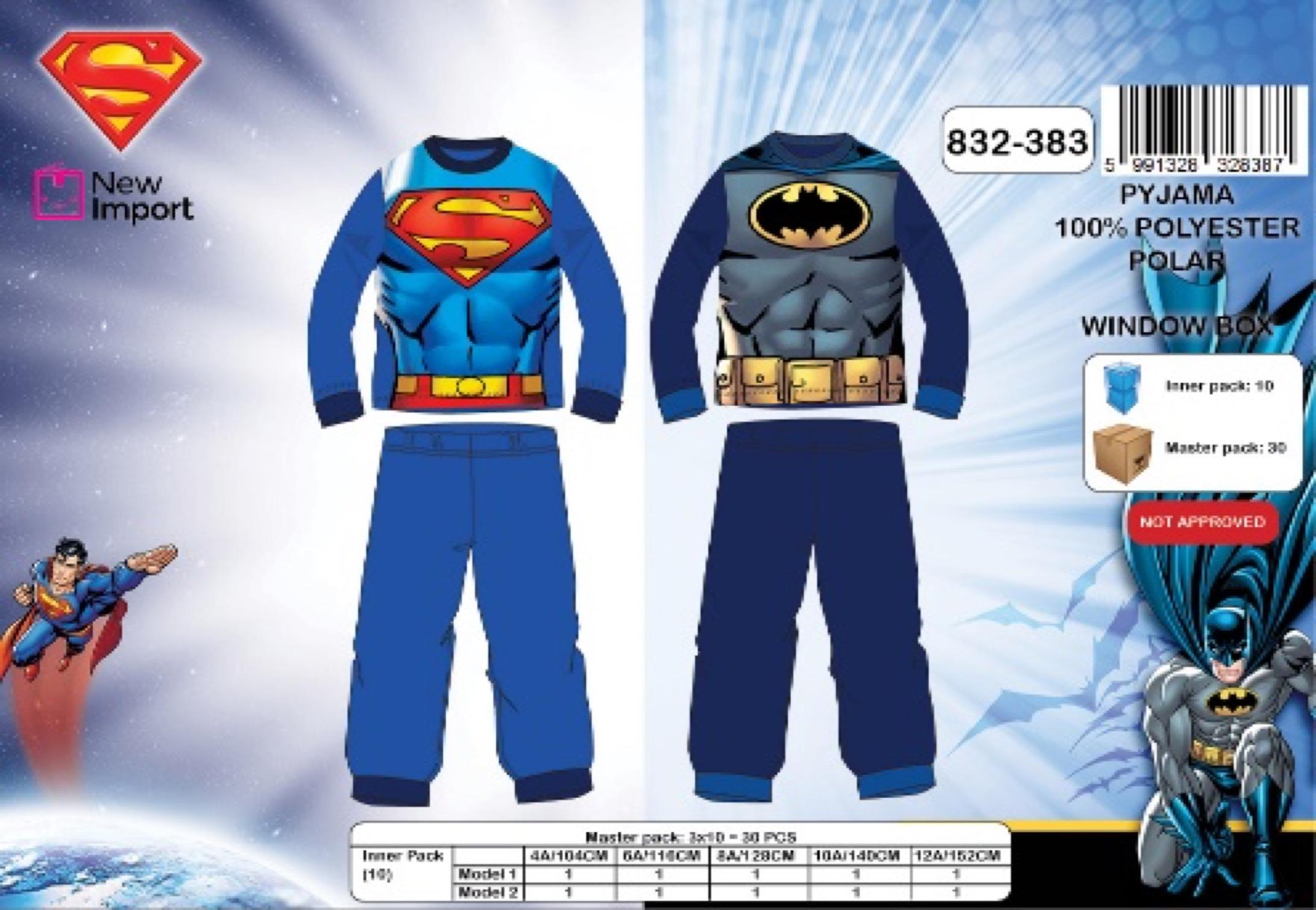 Chlapecké teplé pyžamo SUPERMAN(4-12 let)
