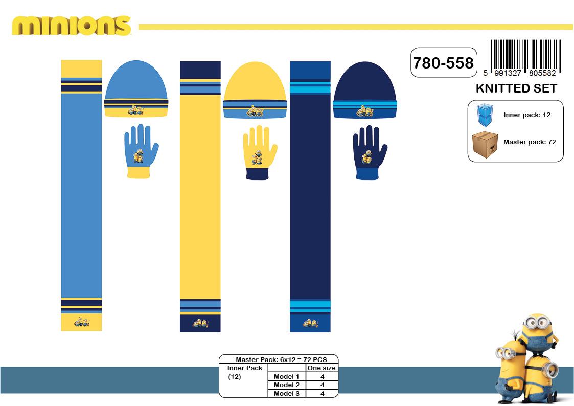Chlapecká zimní souprava čepice + šála + rukavice MINIONS (vel. UNI) 6552093568