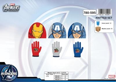 Chlapecká pletená souprava čepice a prstových rukavic AVENGERS (vel. UNI)