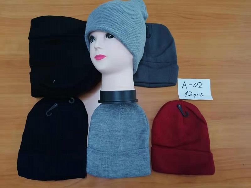 Dámská zimní pletená čepice DELFIN (vel. UNI) mix barev