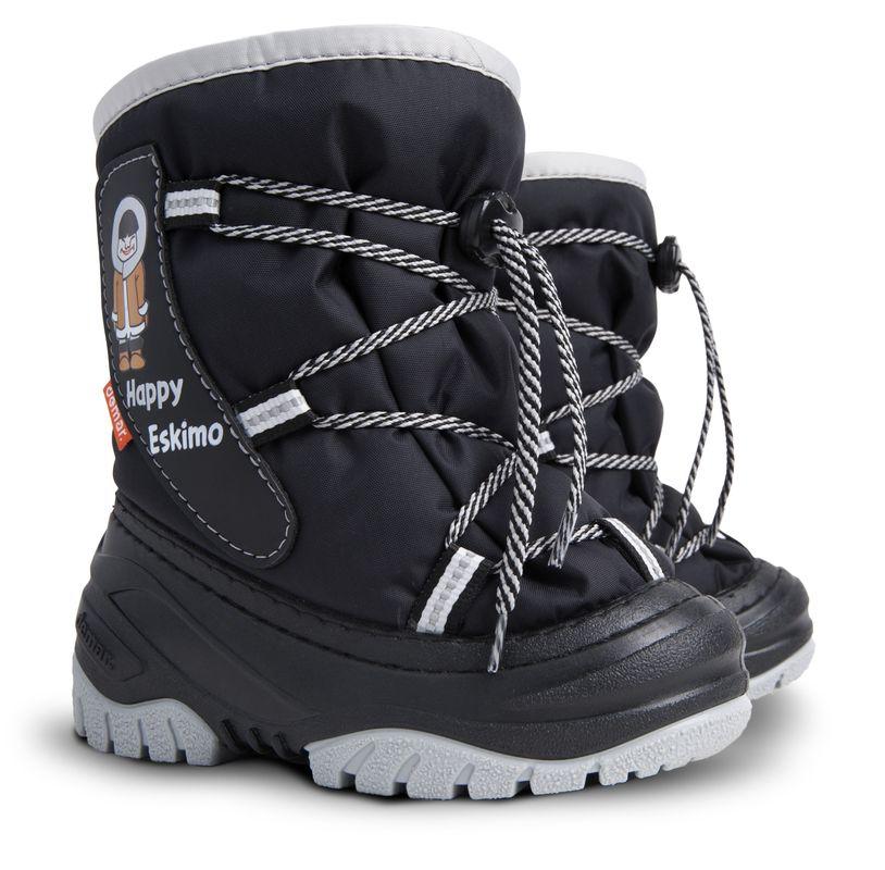 Dětské zimní sněhule DEMAR (20-29) černo-šedé