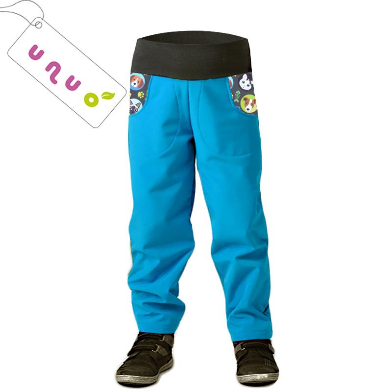 1c4d77fefe01 Dětské zatepl. softshellové kalhoty KOČKA PES (98-128) tyrkys