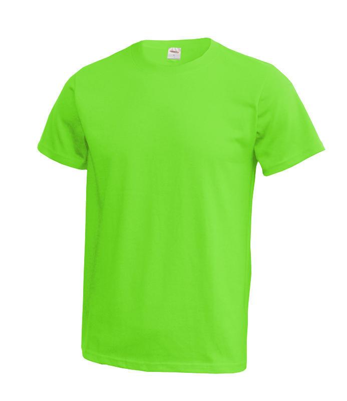 Triko unisex krátký rukáv vel. XXXL - svít. zelené