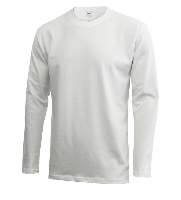 Pánské triko dlouhý rukáv U (S-XXL)