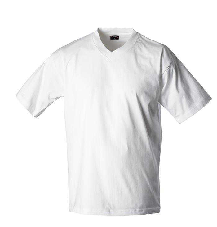 Pánské triko krátký rukáv V (S-XXL) bílé
