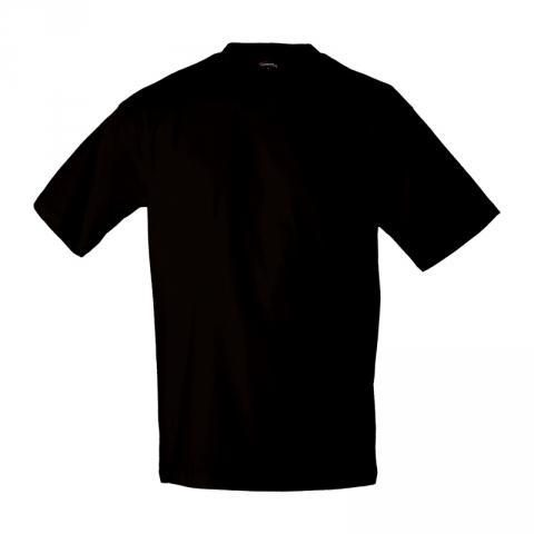 Pánské triko krátký rukáv V (S-XXL) černé