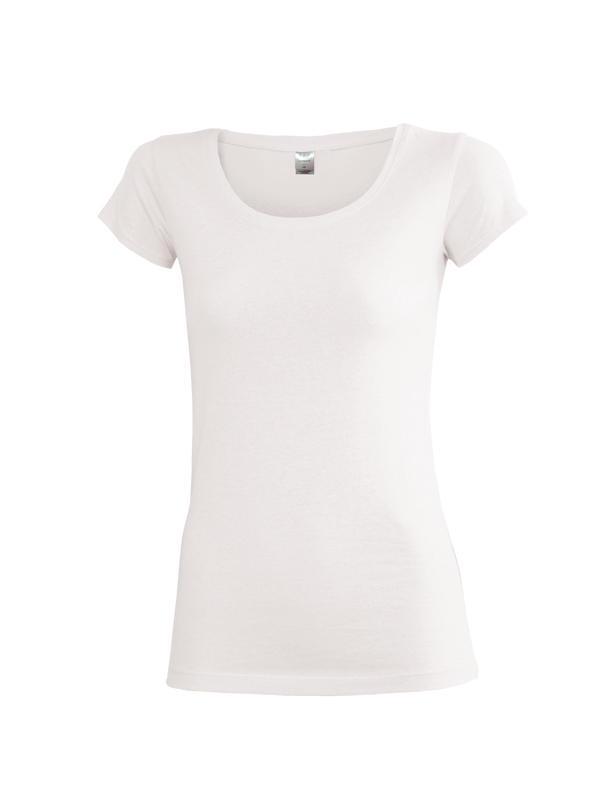 Dámské triko krátký rukáv U (S-XXL) bílé